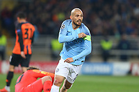 KHARKOV, UKRAINE - OCTOBER 23: David Silva of Manchester City reacts during the Group F match of the UEFA Champions League between FC Shakhtar Donetsk and Manchester City at Metalist Stadium on October 23, 2018 in Kharkov, Ukraine. (Photo by MB Media/Getty Images)