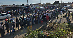 South Africa - Coronavirus - Pretoria - 02 May 2020. Olievenhoutbosch residents queuing for food parcels.<br /> Picture: Oupa Mokoena/African News Agency (ANA)