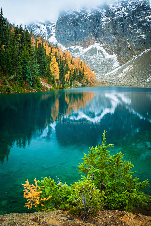 Shoreline of Blue Lake, North Cascades