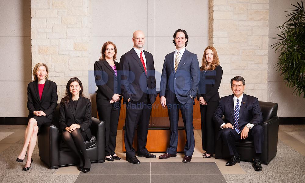 A group photo of an Austin law firm. Photo by Austin corporate photographer, Matthew Lemke