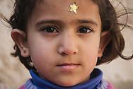 Jerusalem - December 11, 2006: Tamara, age 4, in the Ras al-Amud neighborhood of East Jerusalem. Picture taken outside a home demolished an hour earlier by Israeli authorities.