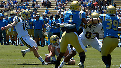 April 29, 2017 - Los Angeles, California, U.S. - UCLA Bruins kicker Andrew Strauch (15) during the UCLA football Spring Showcase on Saturday, April 29, 2017 in Los Angeles. (Photo by Keith Birmingham, Pasadena Star-News/SCNG) (Credit Image: © San Gabriel Valley Tribune via ZUMA Wire)