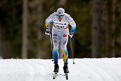 13.12.2014, Davos, SUI, FIS Langlauf Weltcup, Davos, 15 km, Herren, im Bild Calle Halfvarsson (SWE) // during Cross Country, 15km, men at FIS Nordic world cup in Davos, Switzerland on 2014/12/13. EXPA Pictures © 2014, PhotoCredit: EXPA/ Freshfocus/ Christian Pfander<br /> <br /> *****ATTENTION - for AUT, SLO, CRO, SRB, BIH, MAZ only*****