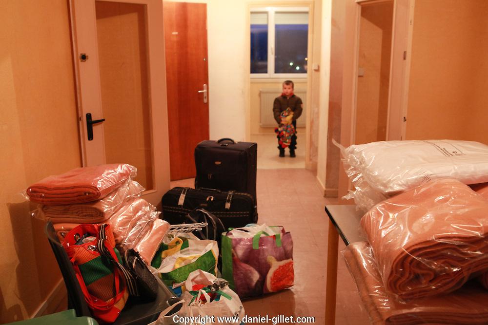 Centre d'accueil de demandeurs d'asile a Hauteville, Ain.  Welcoming center for asylum seekers, in Hauteville, Ain