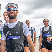 Caleb Shepherd leads his womens eight to the podium <br /> <br /> Compete in the A Finals at FISA World Rowing Cup III on Sunday 14 July 2019 at the Willem Alexander Baan,  Zevenhuizen, Rotterdam, Netherlands. © Copyright photo Steve McArthur / www.photosport.nz