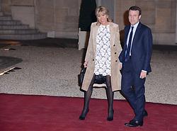 March 11, 2016 - Paris, France - Emmanuel Macron et son épouse Brigitte - Diner Présidentiel en l'honneur du couple Royal des Pays-Bas le Roi Willem-Alexander et la Reine Maxima des Pays-Bas à L'Elysée à Paris le 10 Mars 2016 (Credit Image: © Visual via ZUMA Press)