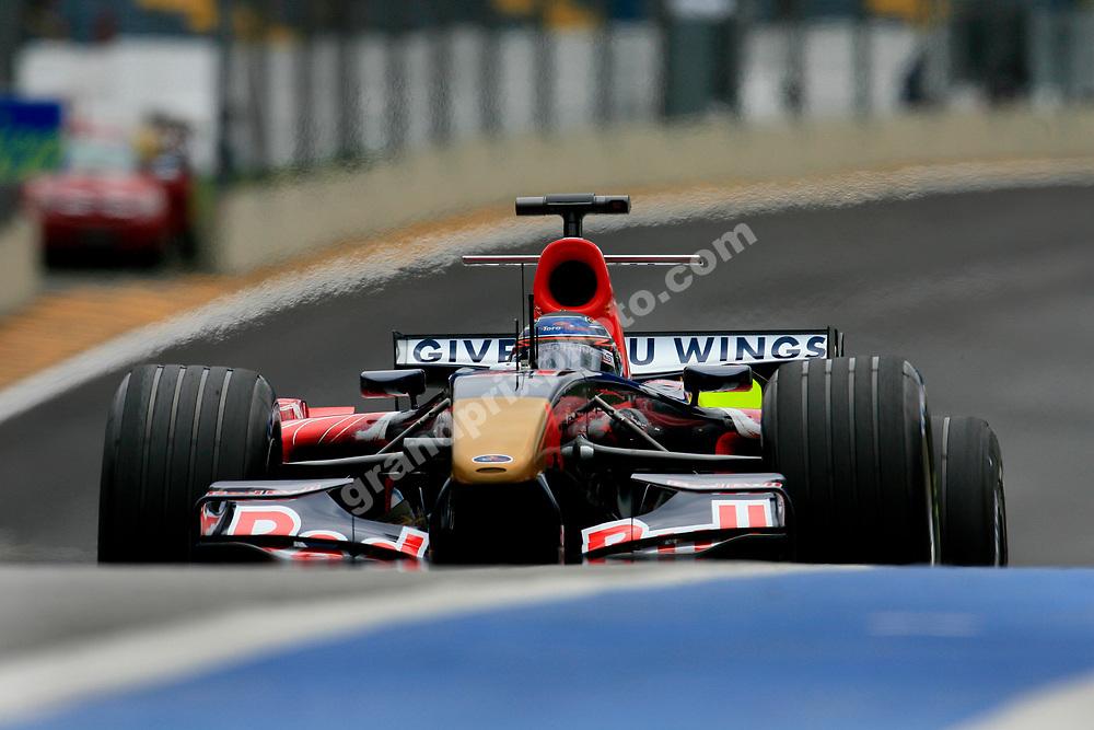 Scott Speed (Red Bull-Cosworth) in practice for the 2006 Brazilian Grand Prix in Interlagos. Photo: Grand Prix Photo