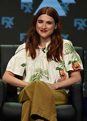BEVERLY HILLS - AUGUST 9: Cast member Aya Cash onstage during the panel for 'You're the Worst' at the FX portion of the 2017 Summer TCA press tour at the Beverly Hilton on August 9, 2017 in Beverly Hills, California. (Photo by Frank Micelotta/FX/PictureGroup) *** Please Use Credit from Credit Field ***