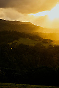 Sunset over Jamberoo near Kiama, NSW, Australia