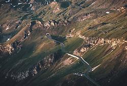 THEMENBILD - Blick auf die Strasse nach Sonnenaufgang, Mittertoerl. Die Grossglockner Hochalpenstrasse verbindet die beiden Bundeslaender Salzburg und Kaernten und ist als Erlebnisstrasse vorrangig von touristischer Bedeutung, aufgenommen am 22. Juli 2019 in Fusch a. d. Grossglocknerstrasse, Österreich // View of the road after sunrise, Mittertoerl. The Grossglockner High Alpine Road connects the two provinces of Salzburg and Carinthia and is as an adventure road priority of tourist interest, Fusch a. d. Grossglocknerstrasse, Austria on 2019/07/22. EXPA Pictures © 2019, PhotoCredit: EXPA/ JFK
