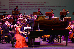 PRETORIA, March 15, 2015  Musicians of Shenzhen Symphony Orchestra of China and South Africa's pianist perform during the concert in Pretoria, South Africa, on March 15, 2015. A concert for the grand opening of ''the Year of China'' in South Africa was held at State Theatre of Pretoria, where ''the Year of China'' in South Africa was officially launched. (Xinhua/Zhai Jianlan) (Credit Image: © Xinhua via ZUMA Wire)