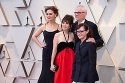 Caleb Deschanel, Oscar® nominee, arrives with wife Mary Jo Deschanel, and daughters Emily and Zoey Deschanel on the red carpet of The 91st Oscars® at the Dolby® Theatre in Hollywood, CA on Sunday, February 24, 2019.