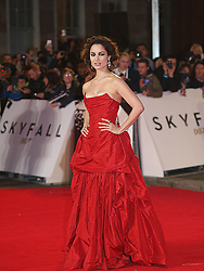 French actress Berenice Marlohe arrives at the World Premiere of her latest James Bond film 'Skyfall', Royal Albert Hall, London, October 23, 2012. Photo by Max Nash / i-Images.