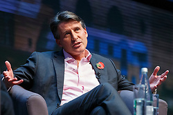 © Licensed to London News Pictures. 10/11/2015. London, UK. Lord Sebastian Coe, the IAAF's president speaking at Microsoft's Future Decoded event at Excel convention centre in London on Tuesday, 10 November 2015. Photo credit: Tolga Akmen/LNP