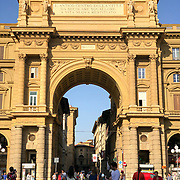 The Piazza della Repubblica is the center of Florence, Italy and considered one of its grand piazzas.