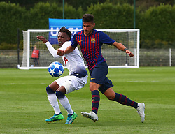 October 3, 2018 - London, England, United Kingdom - Enfield, UK. 03 October, 2018.Nils Mortimer of FC Barcelona (Right).during UEFA Youth League match between Tottenham Hotspur and FC Barcelona at Hotspur Way, Enfield. (Credit Image: © Action Foto Sport/NurPhoto/ZUMA Press)