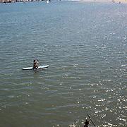 Paddle boarding in Santa Barbara, CA.