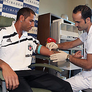 Besiktas Istanbul's new Portuguese soccer player Ricardo Quaresma during their medical control at Acibadem Hospital in in Istanbul Turkey on Saturday 19 Jaune 2010. Photo by TURKPIX