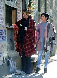 "Jennifer Lopez, Vanessa Hudgens film ""Second Act"". 27 Oct 2017 Pictured: Jennifer Lopez , Vanessa Hudgens. Photo credit: SteveSands/NewYorkNewswire/MEGA TheMegaAgency.com +1 888 505 6342"