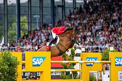DEUSSER Daniel (GER), Calisto Blue<br /> Aachen - CHIO 2019<br /> Mercedes-Benz Nationenpreis<br /> Mannschaftsspringprüfung mit zwei Umläufen<br /> 1. Runde/First Round<br /> 18. Juli 2019<br /> © www.sportfotos-lafrentz.de/Stefan Lafrentz