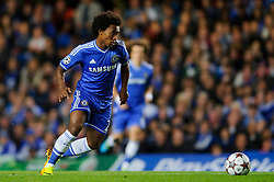 Chelsea Midfielder Willian (BRA) in action during the first half of the match - Photo mandatory by-line: Rogan Thomson/JMP - Tel: 07966 386802 - 18/09/2013 - SPORT - FOOTBALL - Stamford Bridge, London - Chelsea v FC Basel - UEFA Champions League Group E