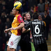 Galatasaray's Milan Baros (L) during their Turkish Super League soccer match Galatasaray between Manisaspor at the TT Arena at Seyrantepe in Istanbul Turkey on Wednesday, 21 December 2011. Photo by TURKPIX