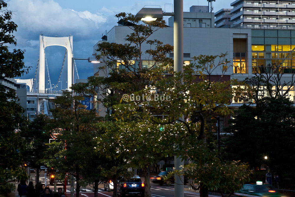 Tokyo Shibaura district with the Rainbow bridge