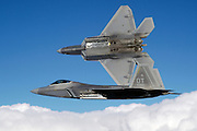F-22 bay open showing AMRAAMs