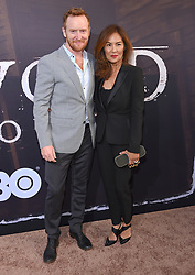 May 14, 2019 - Hollywood, California, U.S. - Tony Curran and Mai Nguyen arrives for the premiere of HBO's 'Deadwood' Movie at the Cinerama Dome theater. (Credit Image: © Lisa O'Connor/ZUMA Wire)