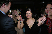 ALISON JACQUES, private view  of new exhibition by Tim Stoner, Alison Jacques Gallery in new premises in Berners St., London, W1 ,Afterwards across the rd. at the Sanderson Hotel. 3 May 2007. DO NOT ARCHIVE-© Copyright Photograph by Dafydd Jones. 248 Clapham Rd. London SW9 0PZ. Tel 0207 820 0771. www.dafjones.com.