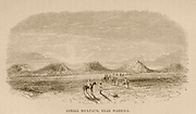 Djebel Soultaun, [Jabel Sultan] near Waregla [Algeria] From the Book ' Great Sahara: wanderings south of the Atlas Mountains. ' by Tristram, H. B. (Henry Baker),  Published by J. Murray in London in 1860