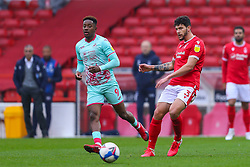 Tobias Figueiredo of Nottingham Forest plays the ball infield - Mandatory by-line: Nick Browning/JMP - 29/11/2020 - FOOTBALL - The City Ground - Nottingham, England - Nottingham Forest v Swansea City - Sky Bet Championship
