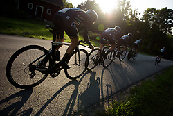 Drops Cycling head toward the setting sun at the Crescent Vargarda - a 42.5 km team time trial, starting and finishing in Vargarda on August 11, 2017, in Vastra Gotaland, Sweden. (Photo by Sean Robinson/Velofocus.com)