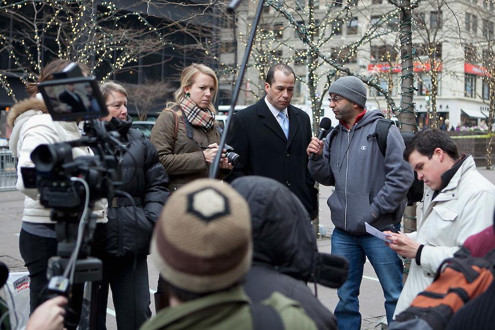 "New York, NY: ""Occupy A Desk"" in Zuccotti Park"