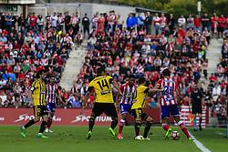June 4, 2017 - Girona, Spain - Action image during the Spanish championship La Liga 1 2 3 football match between Girona FC vs Zaragoza at Montilivi stadium on June 4, 2017 in Girona, Spain. (Credit Image: © Xavier Bonilla/NurPhoto via ZUMA Press)