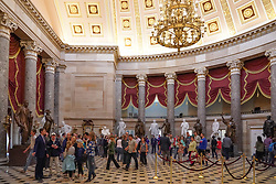 A general view inside the Capitol building in Washington DC in the United States. From a series of travel photos in the United States. Photo date: Friday, March 30, 2018. Photo credit should read: Richard Gray/EMPICS