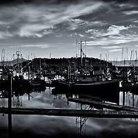 Neah Bay Boat Yard<br />editted 11/14/16<br /> convered to B&W 11/14/16<br /> printed 3/02/17