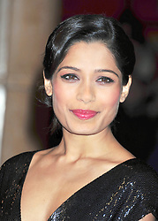 © Licensed to London News Pictures. 21/10/2011. London,England. Freida Pinto  attends the  55th British Film Festival in Leicester square London  Photo credit : ALAN ROXBOROUGH/LNP