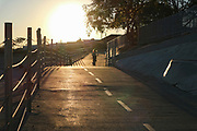 Bicycle Path along Ballona Creek, Culver CIty, California, USA