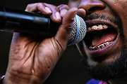Danny Brown performs on the third day of Capitol Hill Block Party on Sunday, July 23, 2017.