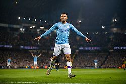 MANCHESTER, ENGLAND - Wednesday, January 1, 2020: Manchester City's Gabriel Jesus celebrates scoring his second goal during the FA Premier League match between Manchester City FC and Everton FC at the City of Manchester Stadium. Manchester City won 2-1. (Pic by David Rawcliffe/Propaganda)
