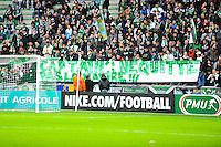 Banderole supporters Saint Etienne  - 04.01.2015 - Saint Etienne / Nancy - Coupe de France<br /> Photo : Jean Paul Thomas / Icon Sport