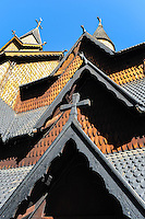 Norwat, Notodden. Heddal stave church is Norway's largest stave church.