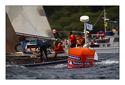 Yachting- The first days inshore racing  of the Bell Lawrie Scottish series at Tarbert Loch Fyne. Near perfect conditions saw over two hundred yachts compete. <br />Avocet Oyster 41 GBR1368T rounding the weather mark. Class3<br />Pics Marc Turner / PFM