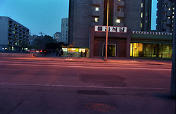 Pyongyang, North Korea, April/May 2004. Pyongyang on a Saturday evening. (Photo by Teun Voeten) *** Please Use Credit from Credit Field ***