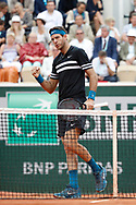 Juan Martin DEL POTRO (ARG) won point during the Roland Garros French Tennis Open 2018, day 9, on June 4, 2018, at the Roland Garros Stadium in Paris, France - Photo Stephane Allaman / ProSportsImages / DPPI