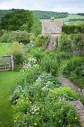 The Long Border and Dovecote at Snowshill Manor