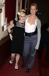 Left to right, KELLY OSBOURNE and MARGO STILLEY at the launch of 'Grand Classics:Films with Style' series in London hosted by Vivienne Westwood at The Electric Cinema, Portobello Road, London W11 on 20th March 2006.<br /><br />NON EXCLUSIVE - WORLD RIGHTS