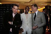 STEFAN BOOTH, DAMIAN DARKKO AND JENS TRULLSON, De Grisogono & Londino Car Rally  party. <br />