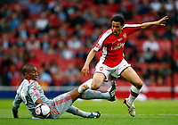 Francis Coquelin of Arsenal Andre Wisdom of Liverpool  FA Cup 1st Leg Arsenal Youth v Liverpool Youth at Emirates  22/05/2009 Credit Colorsport / Kieran Galvin